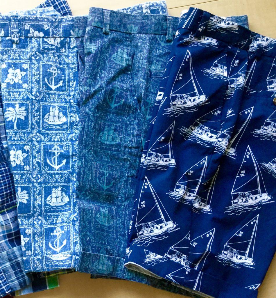 ハワイアン・シャツとセイル・ボート柄