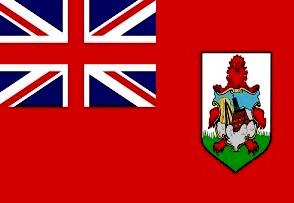 英国領 バミューダ諸島の国旗と位置