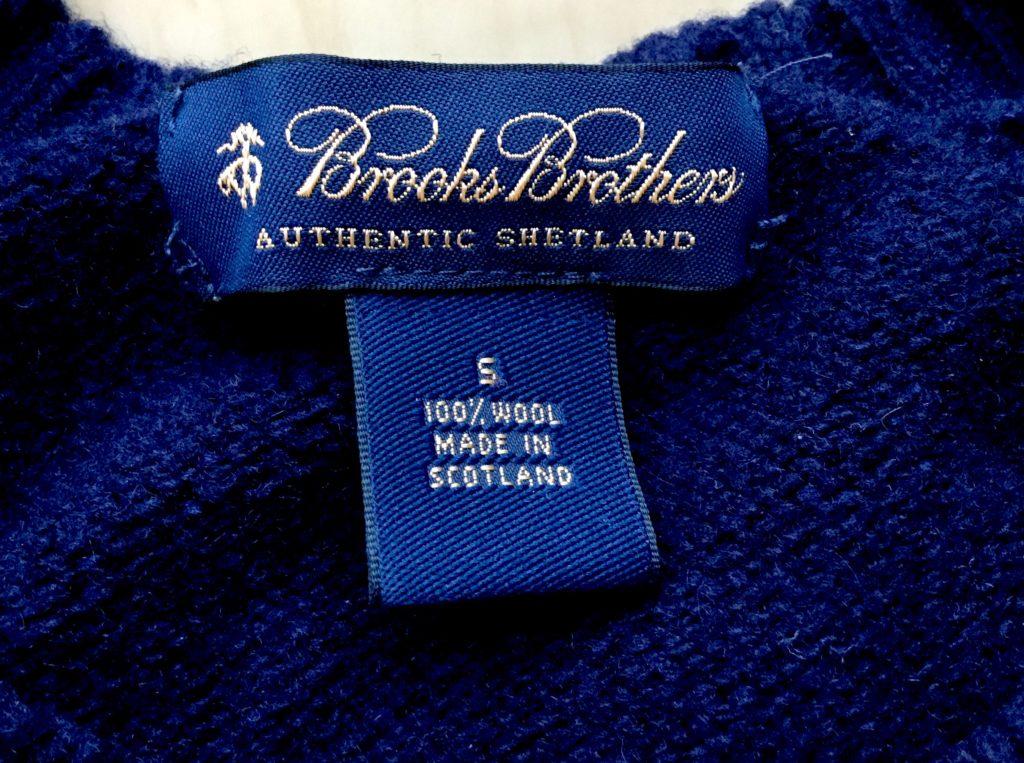 Brooks Brothers のスコットランド製 シェトランド・セーター