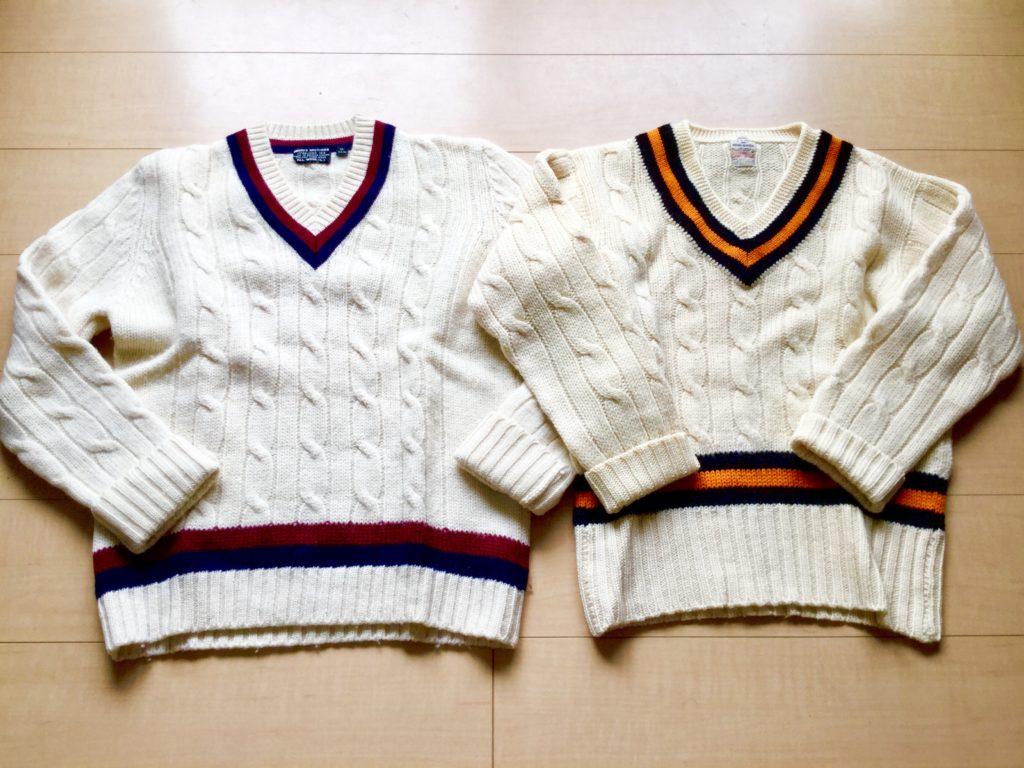 Brooks Brothers のクリケット・セーターとテニス・セーター