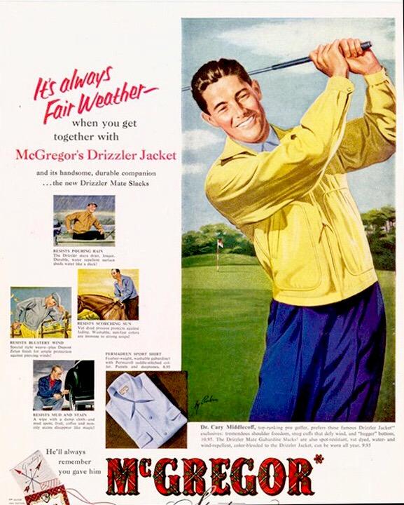 マクレガー社 ドリズラー・ジャケットの広告